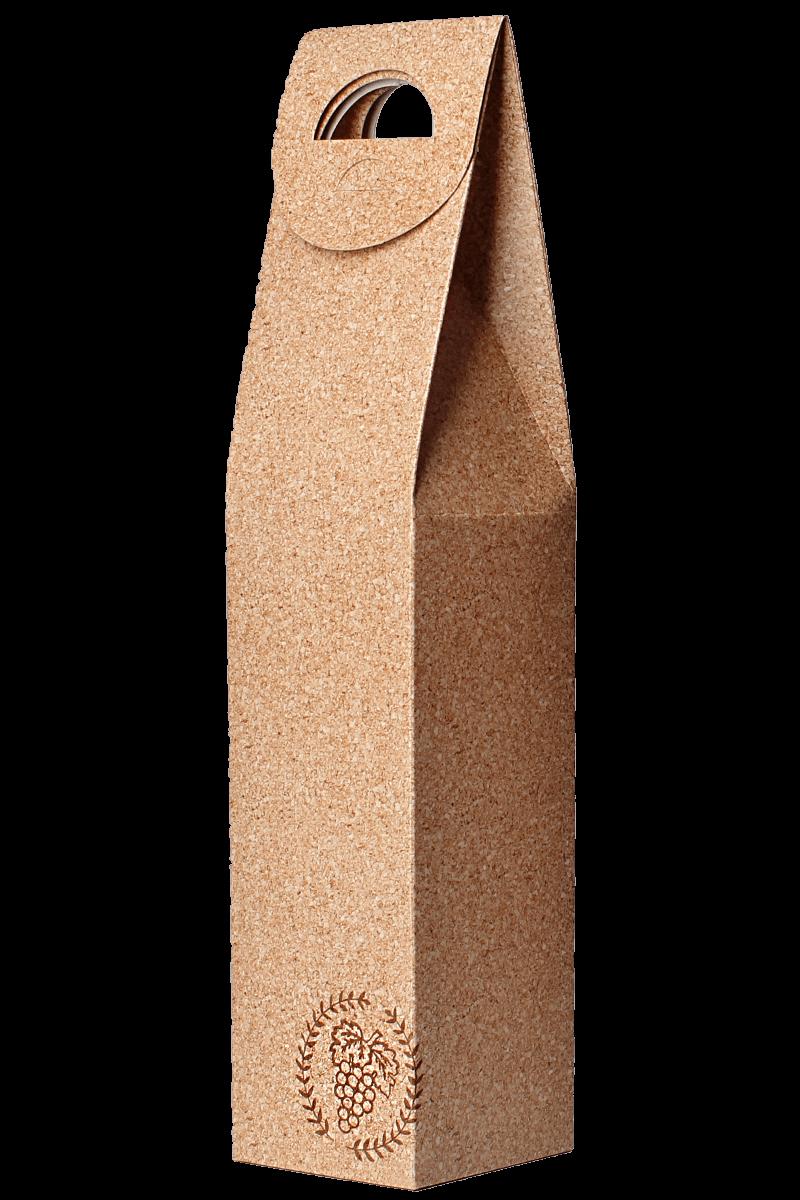Caixa de papel cartão decorada cortiça