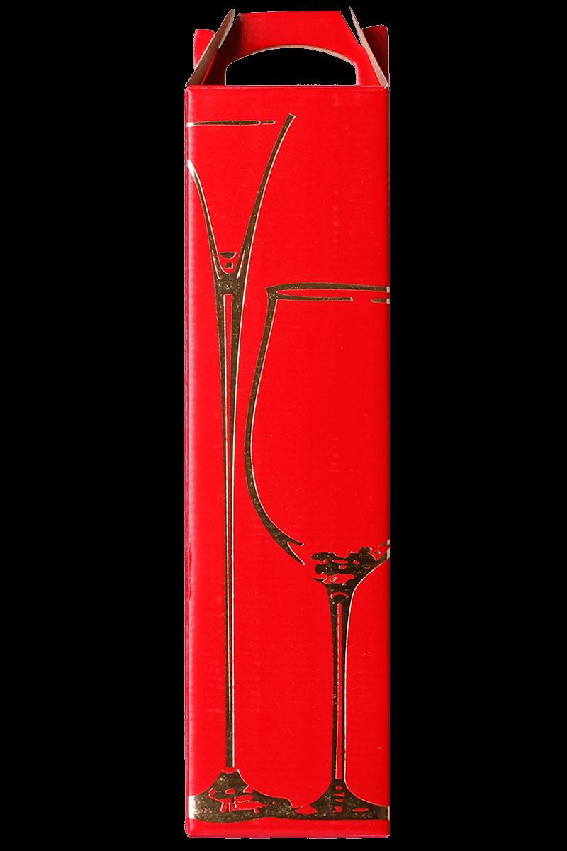 Caixa decorada taça vermelha