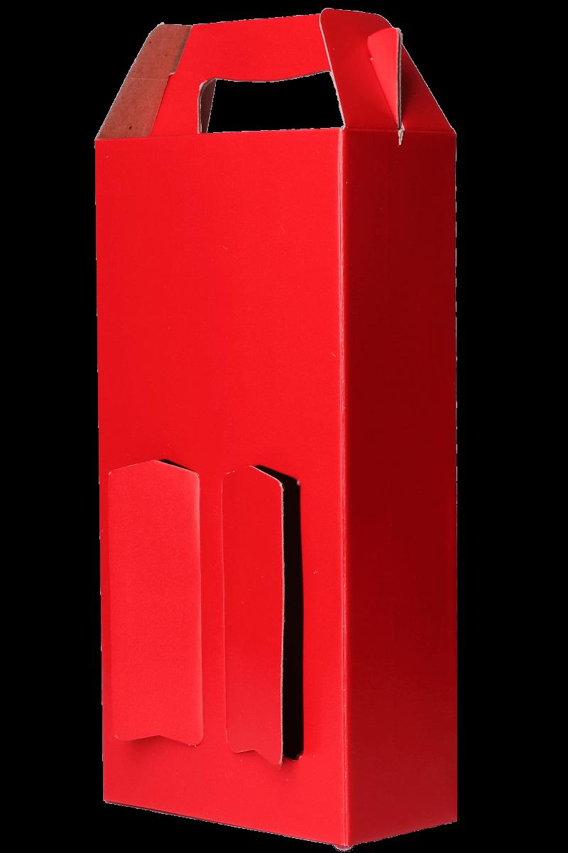 Caixa vermelha lisa