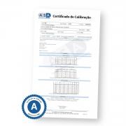 Certificado de Calibração Rastreável para Refratometro