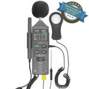 HTM-401 Termo Higrô Decibelímetro Luxímetro Digital