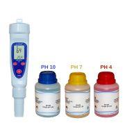 Medidor de PH com 3 soluções para calibração PH 4|7|10 - KR22