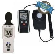 KR802 Luxímetro + KR833 Decibelímetro com certificado de calibração incluso