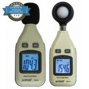 KR813 Decibelímetro + KR812 Luxímetro com Certificados Calibração com Rastreabilidade RBC INMETRO