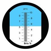REF10 Refratômetro analógico (0 a 10% Brix)