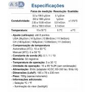 Simpla EC150- Medidor de Condutividade de Bancada