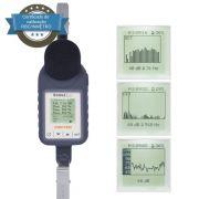 Sonus-2 Plus Dosímetro de ruido com filtro de 1/1 e 1/3 de oitavas