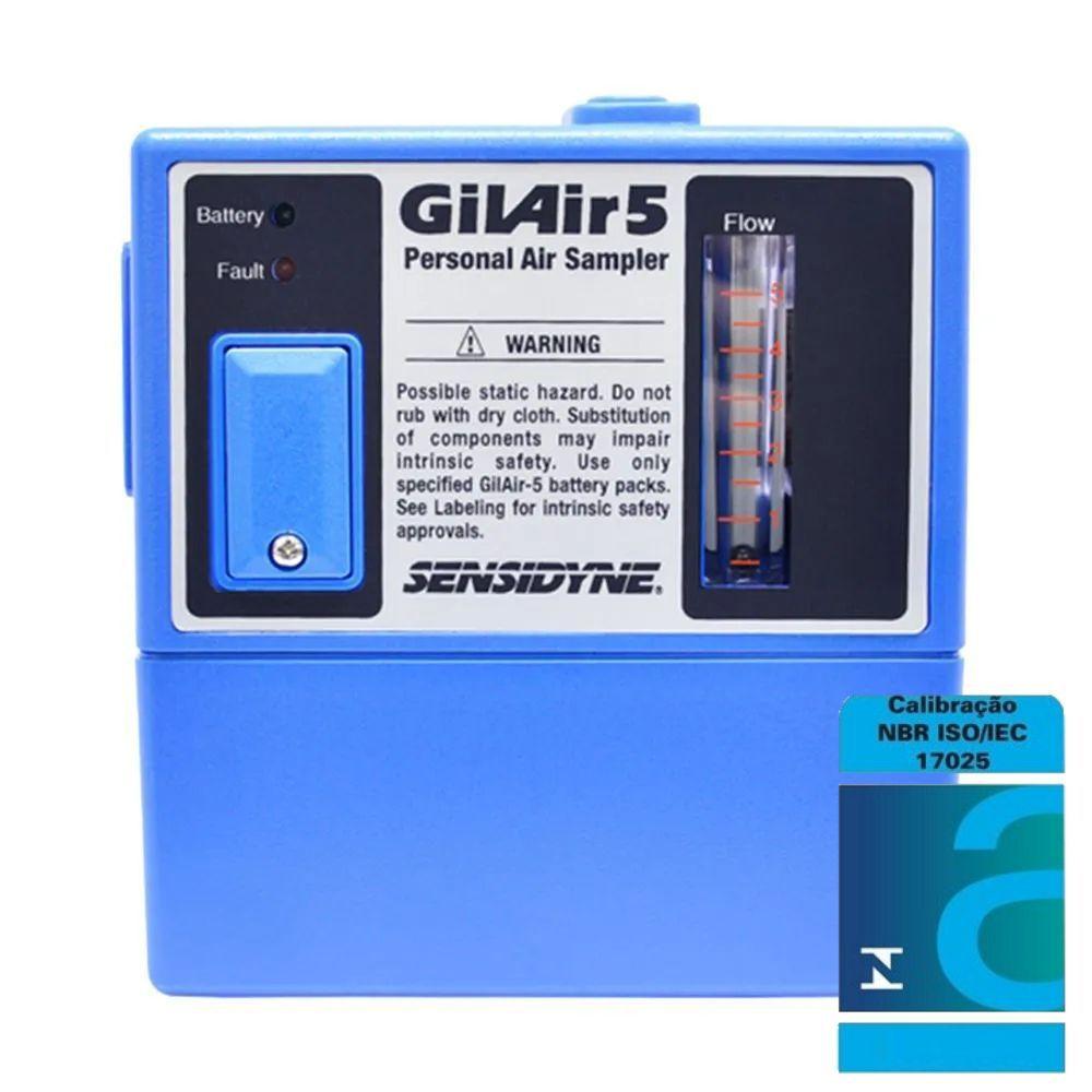 Bomba de amostragem GilAir 5 + Certificação acreditada ao INMETRO/RBC