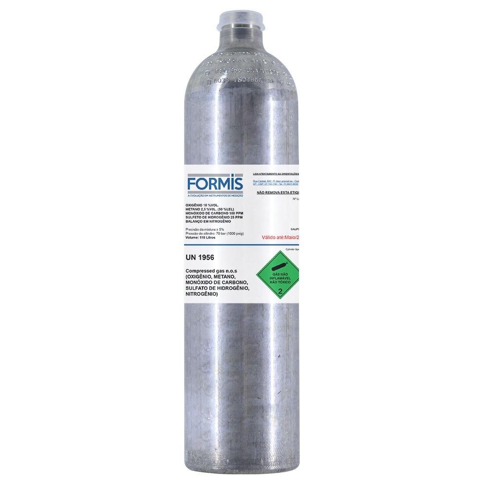 Cilindro para calibração de detector de 4 gases - 118L