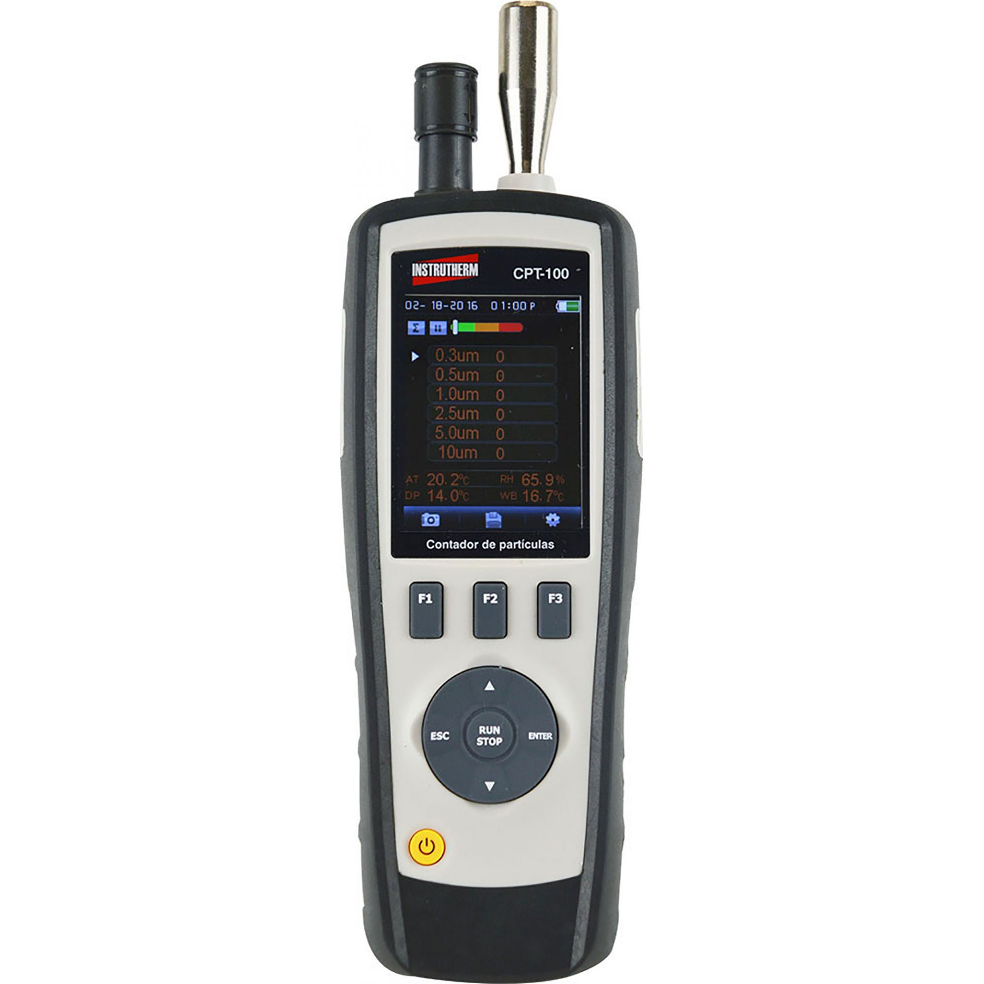 Contador de partículas MOD. CPT-100 com interface USB e cartão MICRO SD