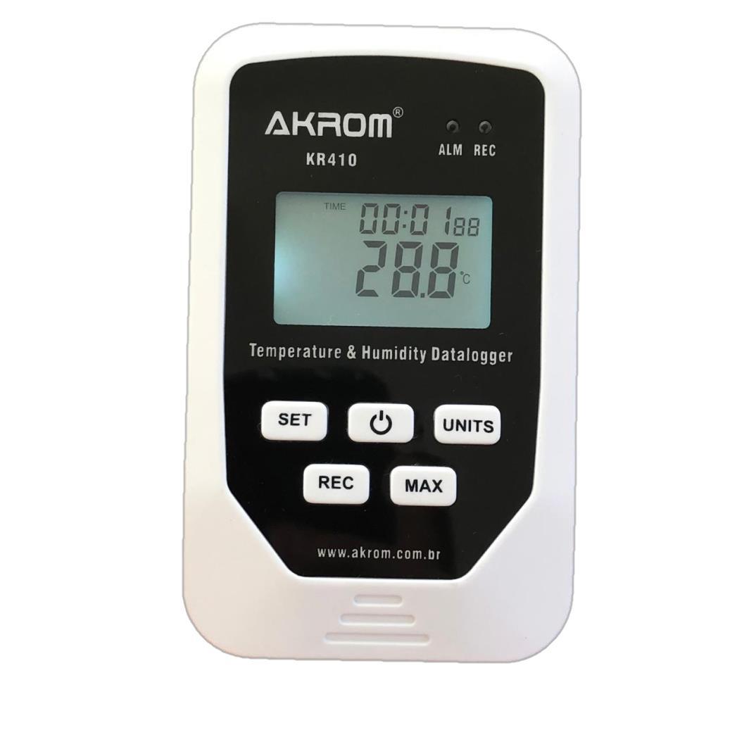 Datalogger de temperatura e umidade com conexão USB- KR410
