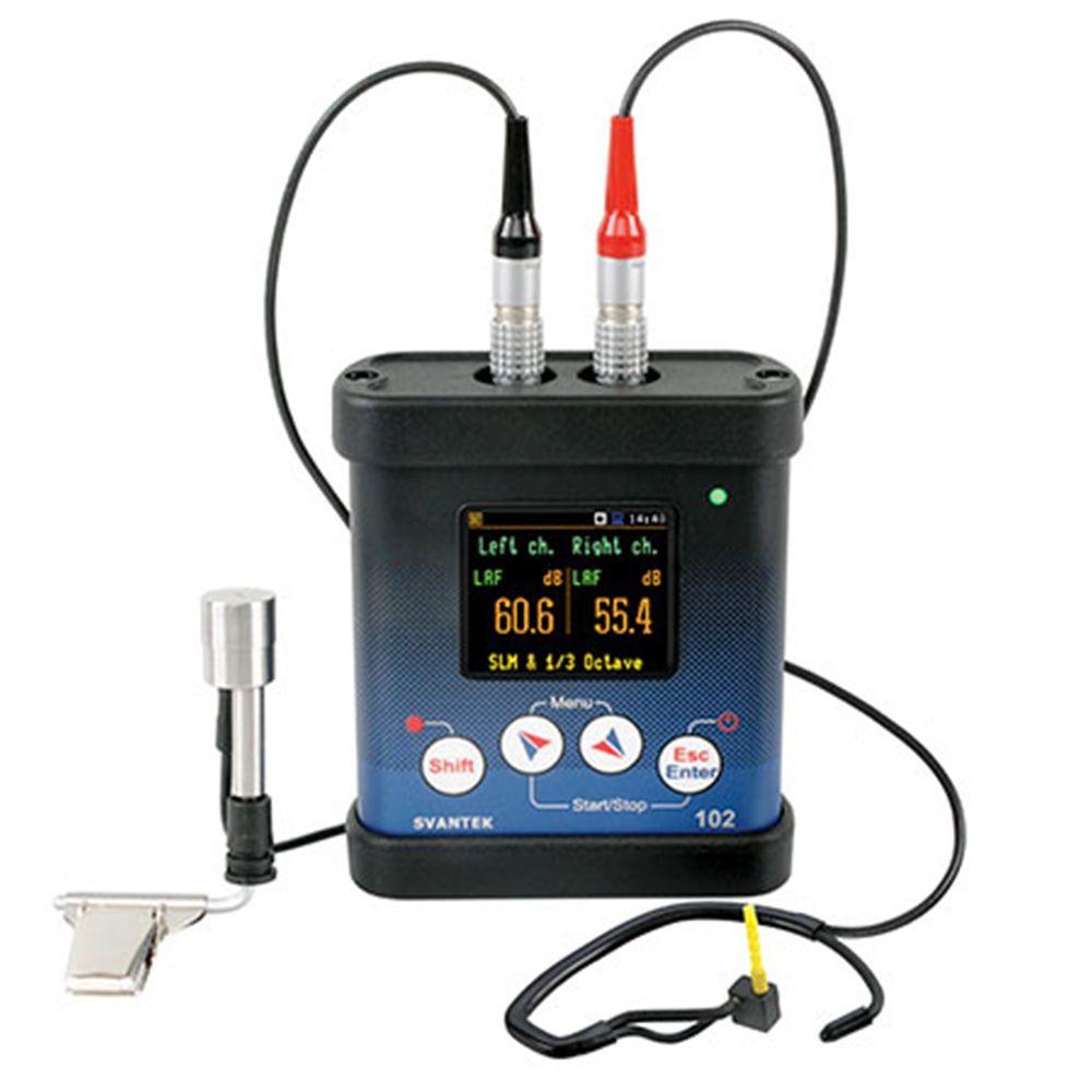 SV102+ Dosímetro de ruído com duplo canal