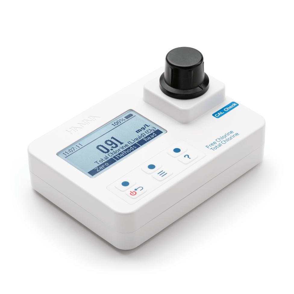 Fotômetro Portátil para Cloro Livre e Total com CAL Check - HI97711