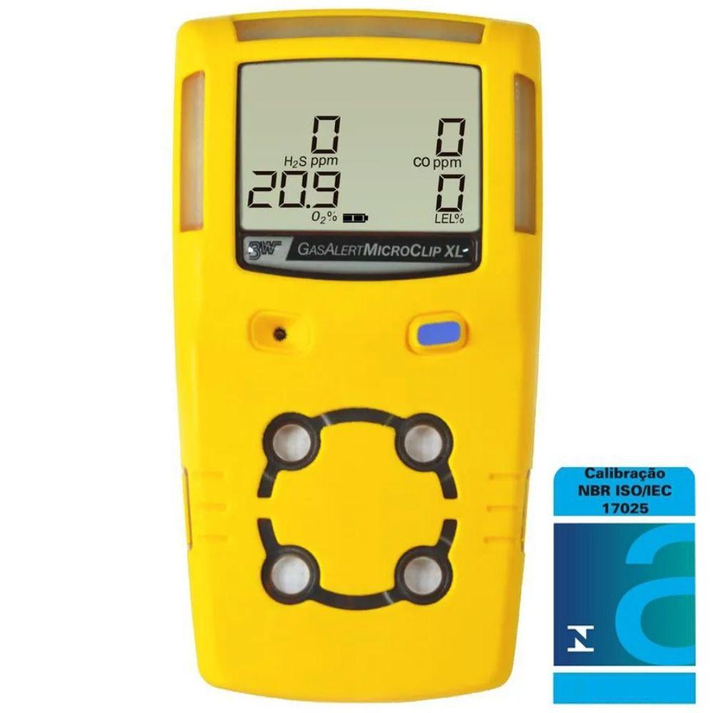 Gasalert Microclip XL Detector de 4 gases -  Calibração Acreditada/INMETRO