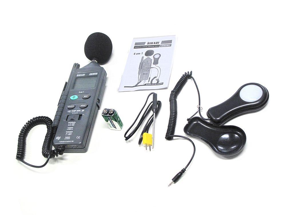 Termo-Higrô-Decibelímetro-Luxímetro digital- HTM-401