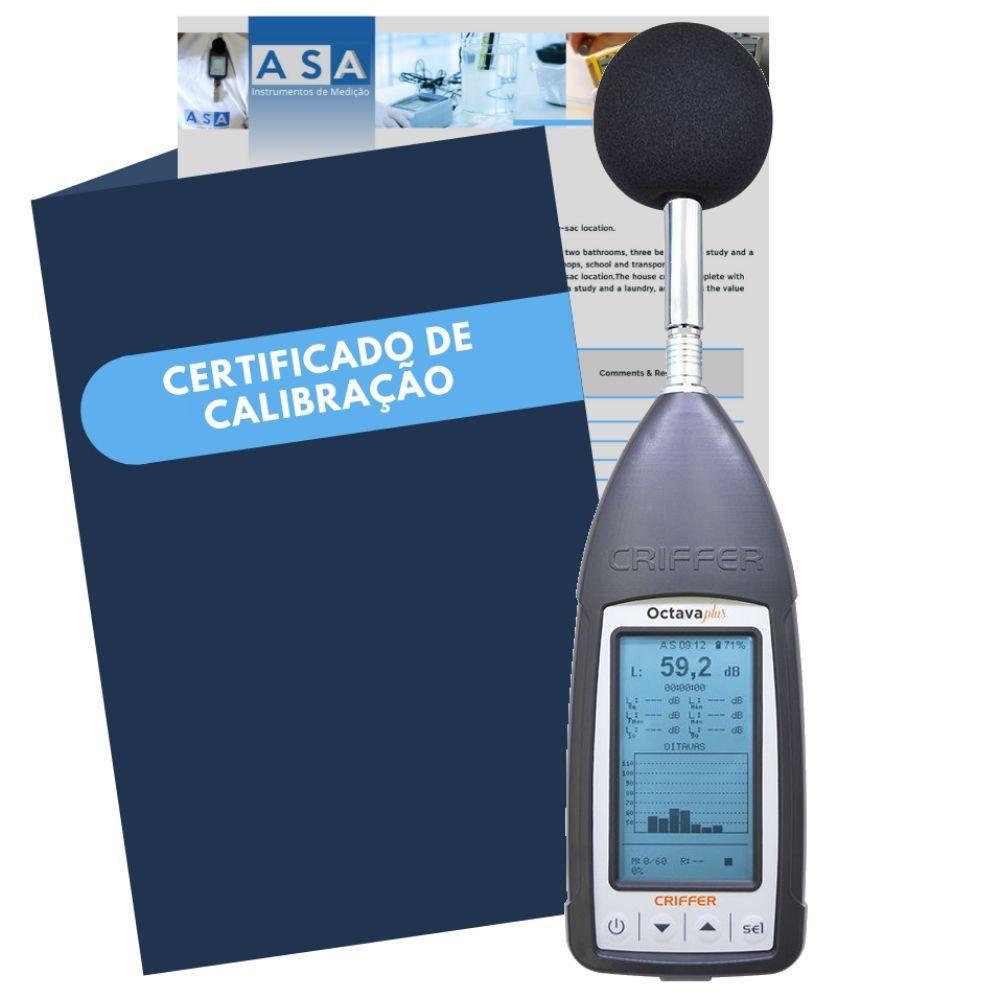 Locação semanal de 1 sonômetro digital Octava-Plus com Certificado de Calibração