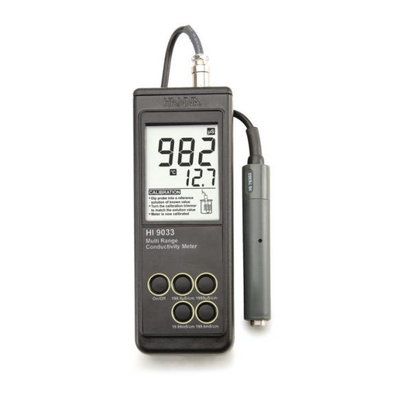 Medidor de EC – Faixas Múltiplas - HI9033