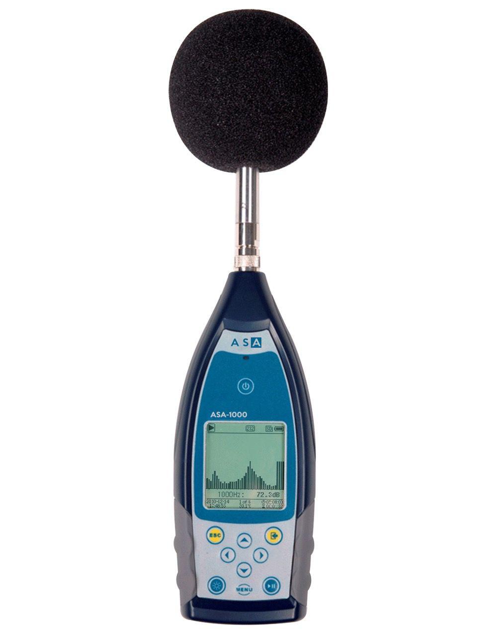 Medidor de Nivel Sonoro com filtro de Banda de Oitava 1/1 Classe 1 Conforme IEC 61672 - ASA 1000