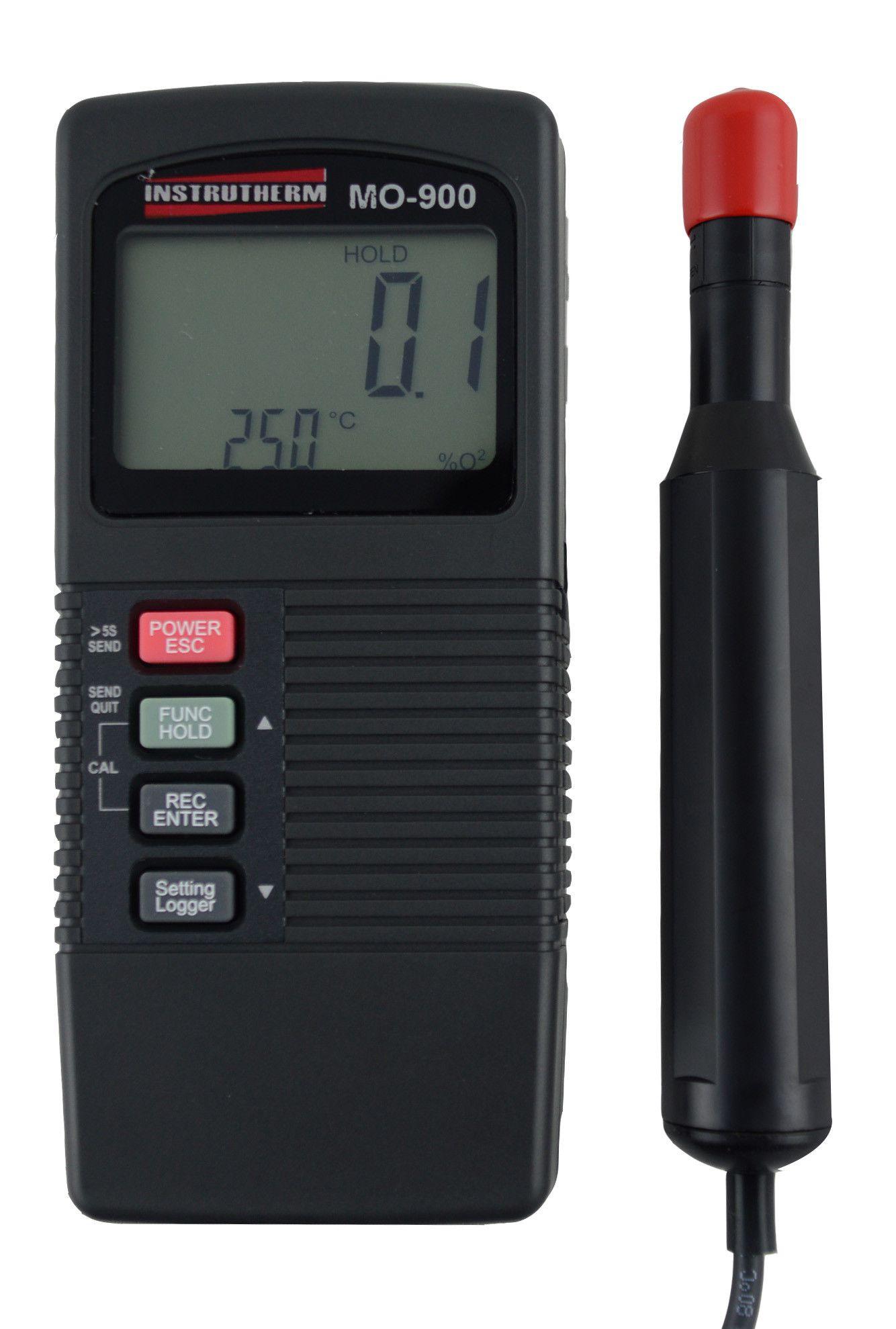 Medidor de oxigênio dissolvido digital portátil com RS232 e datalogger MOD. MO-900