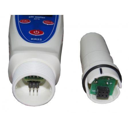 Medidor de PH de bolso com calibração automática e ATC - KR22