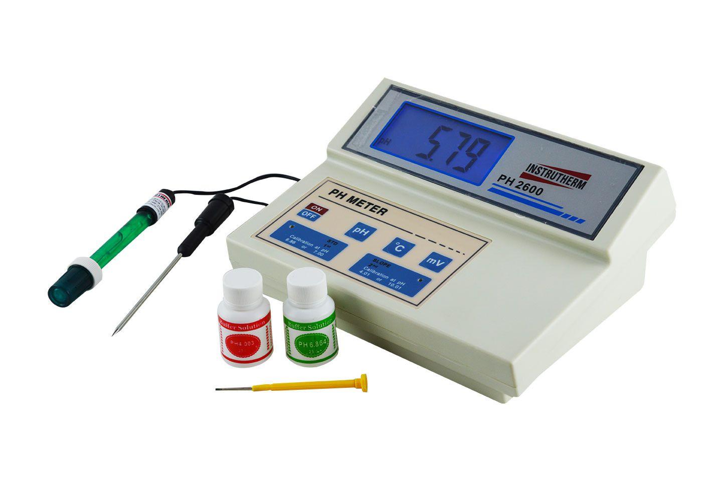 Medidor de PH / MV / Temperatura . Digital de bancada MOD. PH-2600