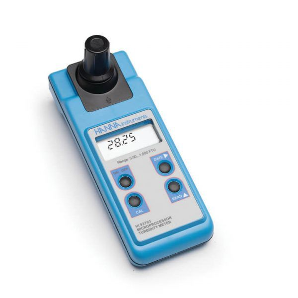 Medidor de Turbidez inclui maleta para transporte + Padrão de calibração + cubetas para análises - HI93703C