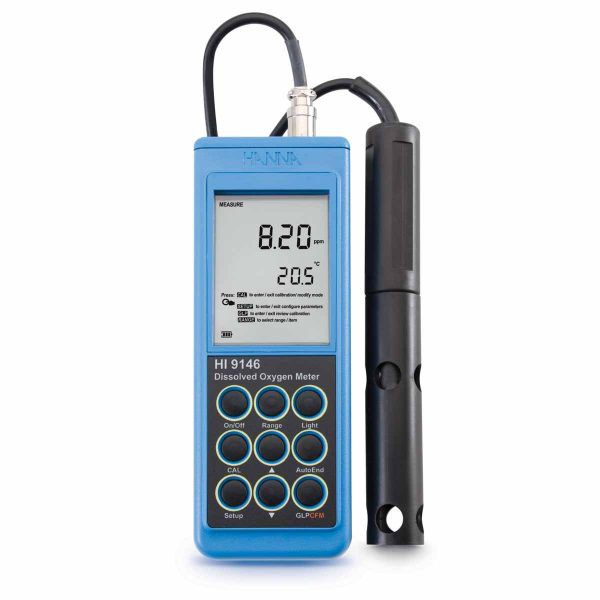 Medidor Portátil de Oxigênio Dissolvido com cabo de 4m - HI9146-04