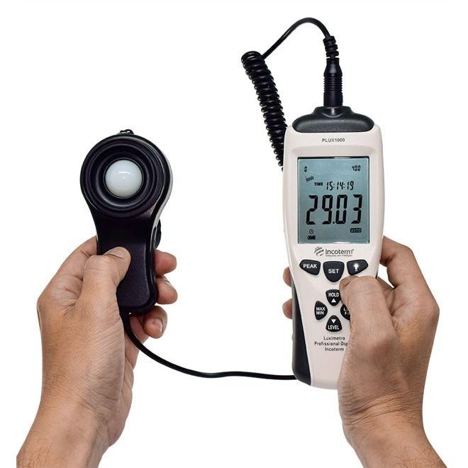 Luxímetro Profissional Digital Incoterm - PLUX1000