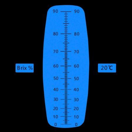 REF90 Refratômetro analógico (0 a 90% Brix)