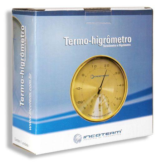 Termo higrômetro analógico temperatura e umidade