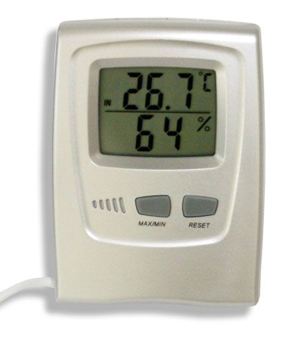 Termo higrômetro digital temperatura e umidade internas