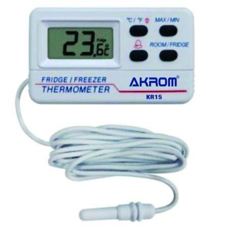 Termômetro digital com alarme para freezer e geladeira - KR15