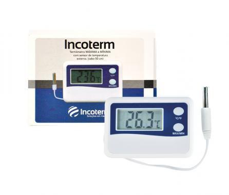 Termômetro Digital com máxima e mínima (cabo de 50cm)  (- 50°C a + 70°C)
