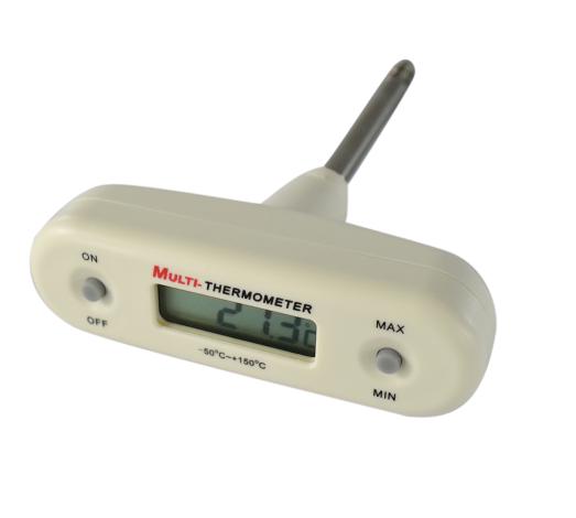 Termômetro digital tipo saca-rolhas