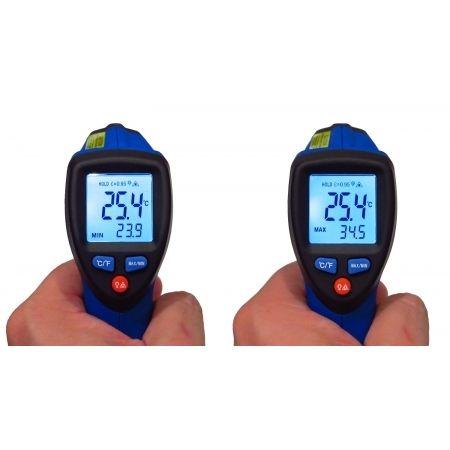 KR550 Termômetro infravermelho com registros de max/min (-50º até 550°C)