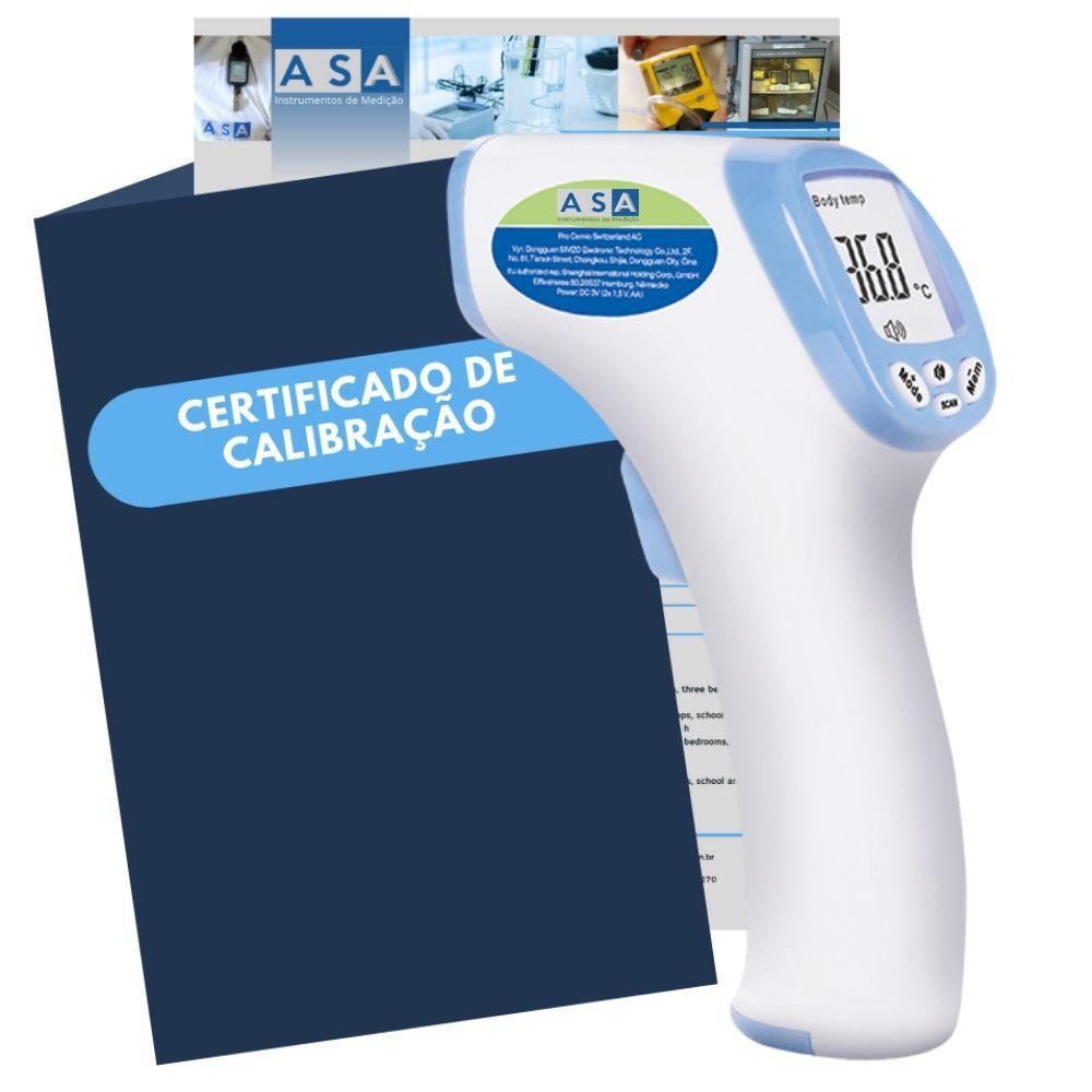 ASA-280 - Termômetro Digital Infravermelho para Corpo Humano sem Contato com Certificação rastreável ao INMETRO/RBC