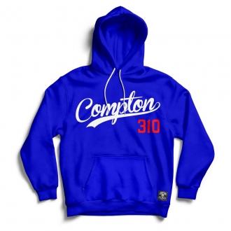 Blusa Moletom Compton 310 Canguru Com Capuz Azul