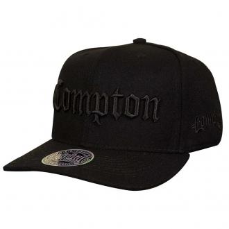 Boné Aba Curva Snapback Compton All Black