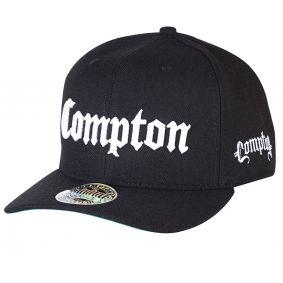 Boné Aba Curva Snapback Tradicional Preto Compton