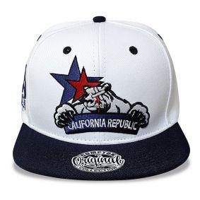 Boné Aba Reta Snapback Cali Republic Branco Compton
