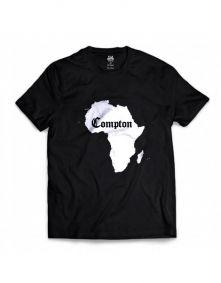 Camiseta Manga Curta African Map Preto Compton