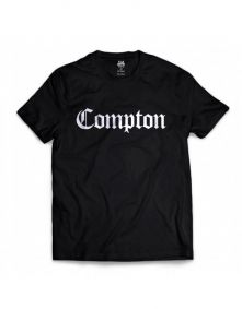 Camiseta Manga Curta Tradicional Preto Compton
