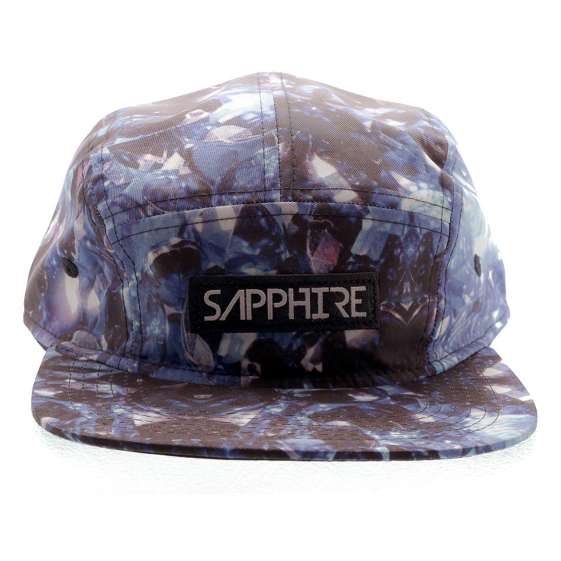 Boné 5 Panel Strapback Sapphire Diamond Azul