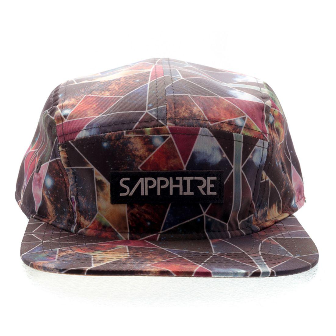 Boné 5 Panel Strapback Sapphire Life Multicolor