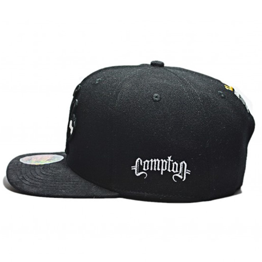 Boné Aba Reta Snapback Nwa Hands Up Preto Compton