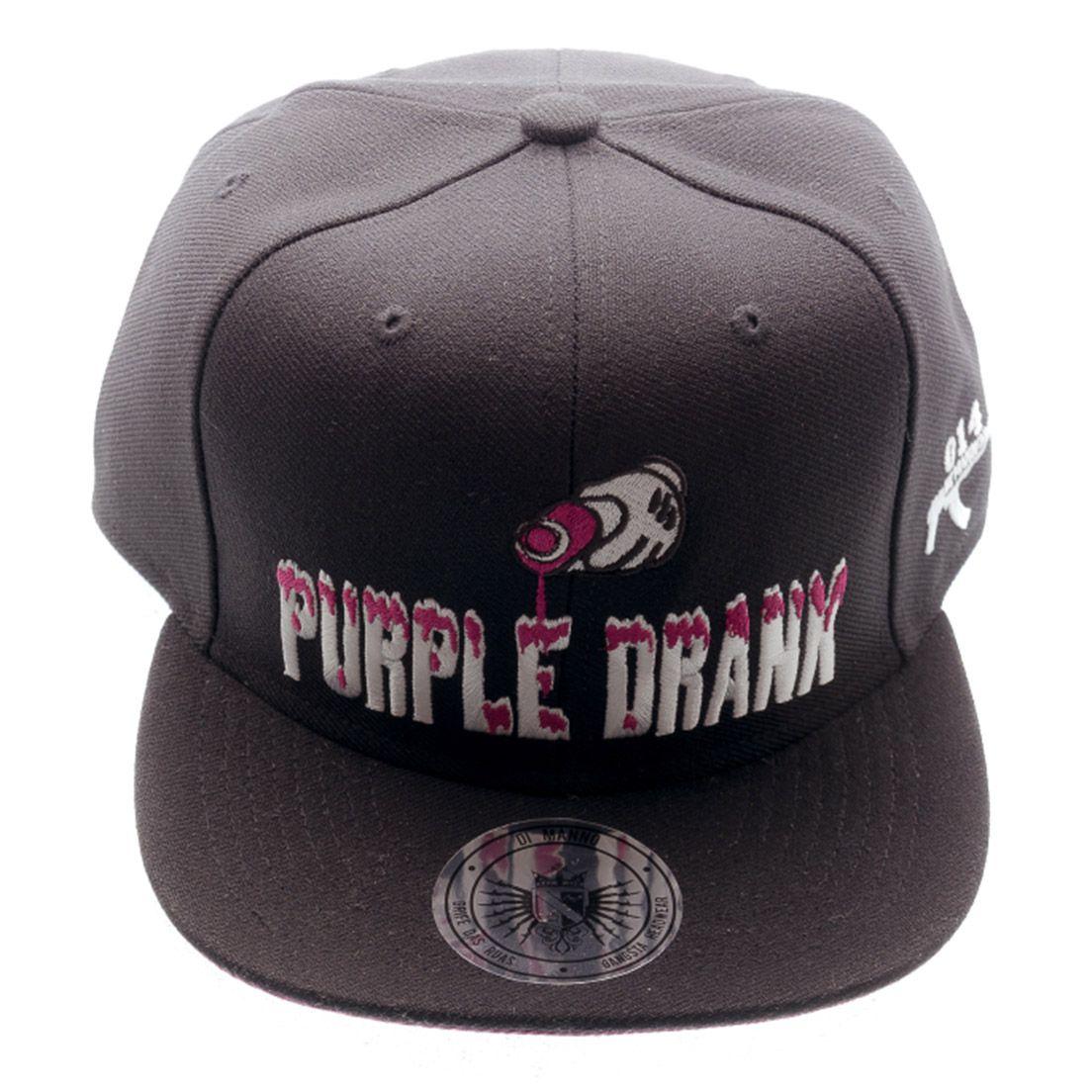 Boné Aba Reta Snapback Purple Drank Preto Di Manno