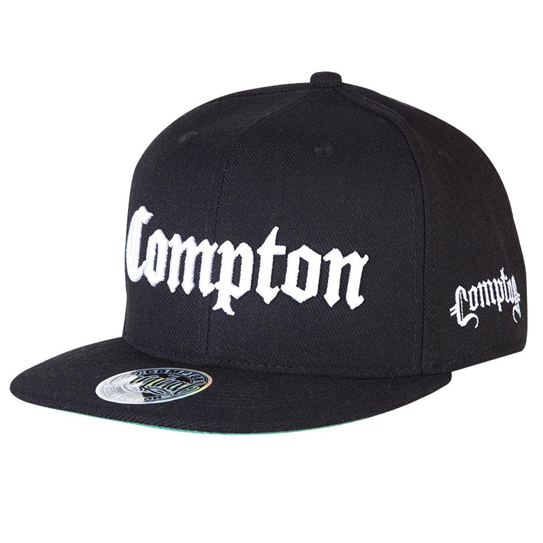 Boné Aba Reta Snapback Tradicional Preto Compton