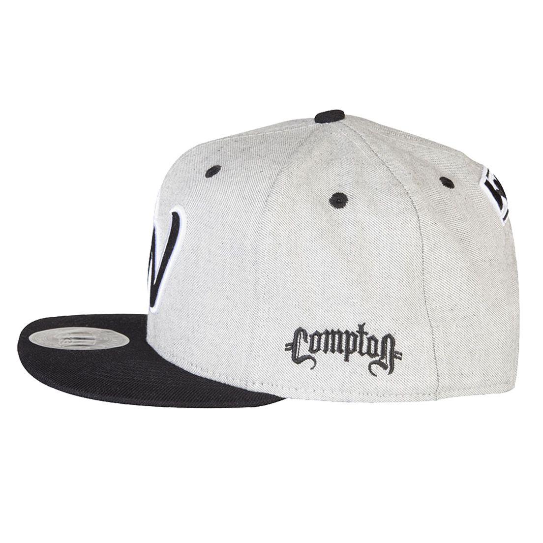 Boné Aba Reta Snapback West Cali Cinza Compton