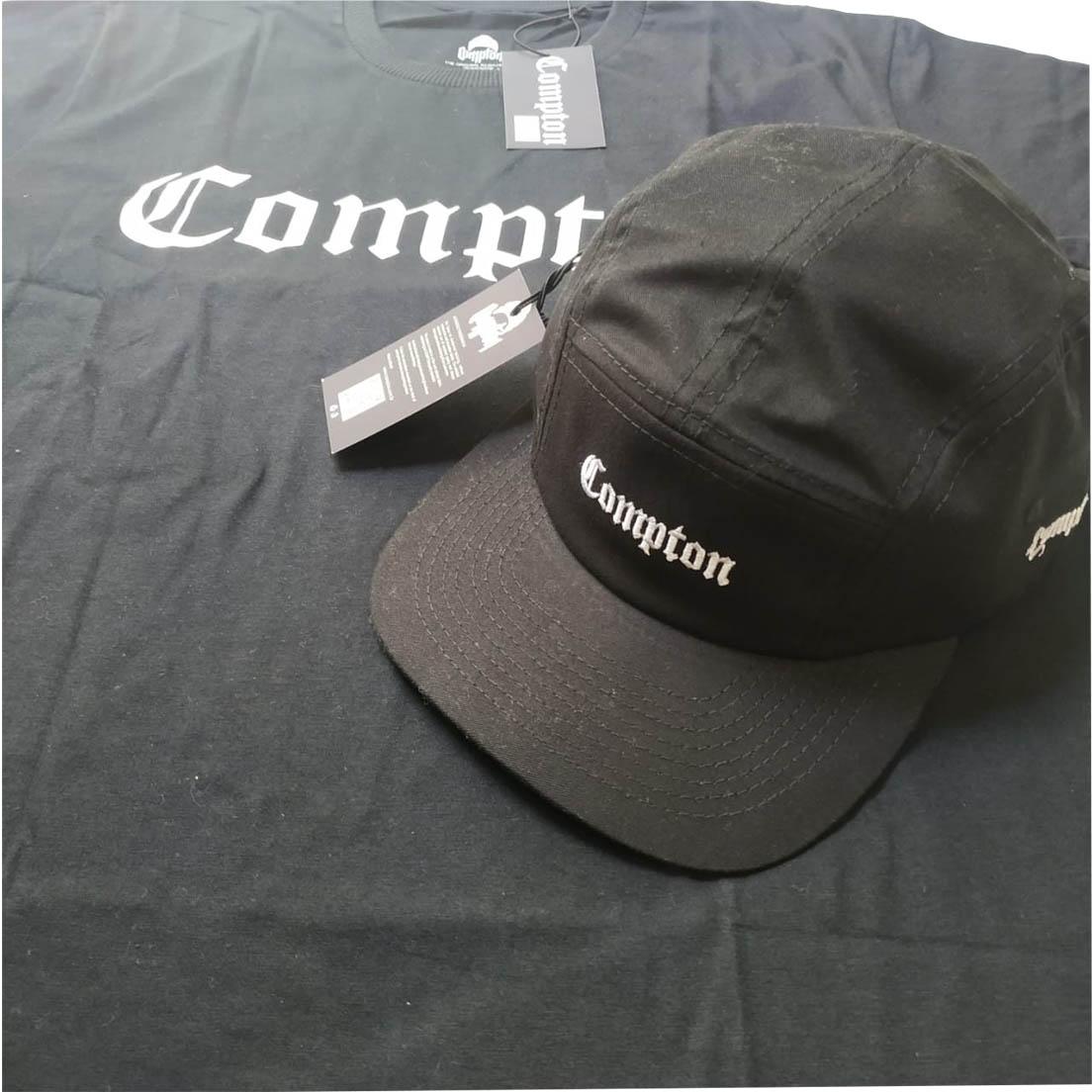 Camiseta Compton + Boné Five Panel Preto