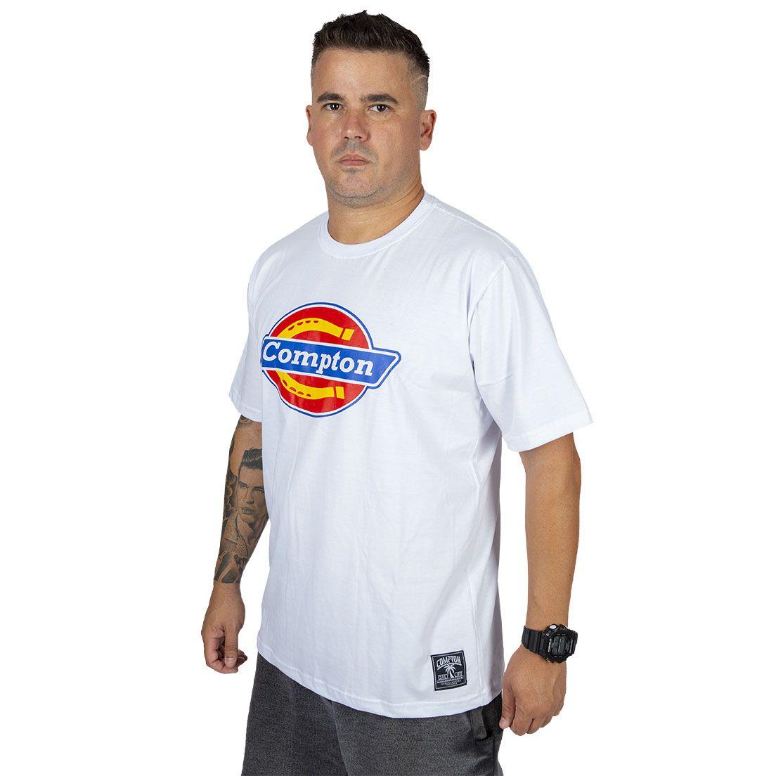 Camiseta Compton C Logo Branca